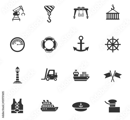 Fotografía  harbor icon set