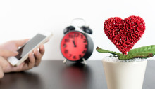 Dating Love Call On Smart Phone Concept