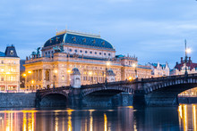 The National Theatre In Prague...