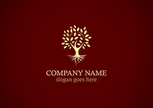 Gold Tree Nature Logo