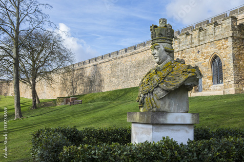 King George III Statue at Lincoln Castle Poster