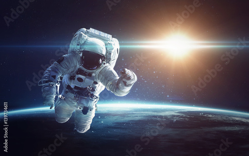 Foto op Aluminium Heelal Blue planet Earth. Illustration of homeworld, ecology and science. Elements furnished by NASA