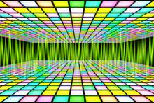 Neon Waveform Pattern Backgrounds