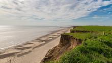 Yorkshire Coast At Barmston Beach, Near Bridlington, East Riding Of Yorkshire, UK