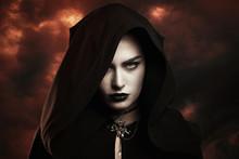 Dark Witch And Hellish Sky