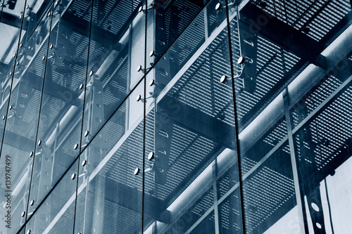 Poster Architecture Background. Glass facade system