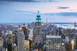 Empire State building and Manhattan skyline at dusk, New York city, USA