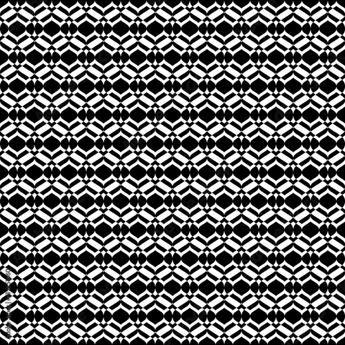 Vector Monochrome Seamless Texture Abstract Geometric Pattern