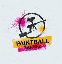 Paintball Marker Gun Vector Sp...
