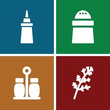 Set Of 4 Spice Filled Icons