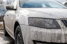 Dirty White Car