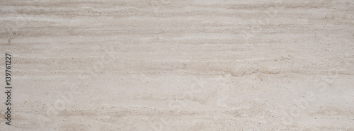 Beige travertine stone background texture for design - 139761227