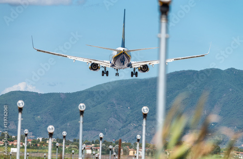 Airport runway lights - Buy this stock photo and explore