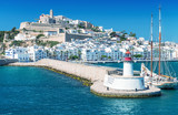 Ibiza port, beautiful panoramic view on a sunny day - 139765488
