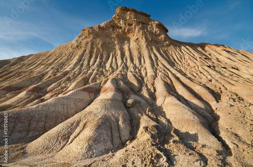 Bardenas Reales desertic landscape in Navarra, Spain.