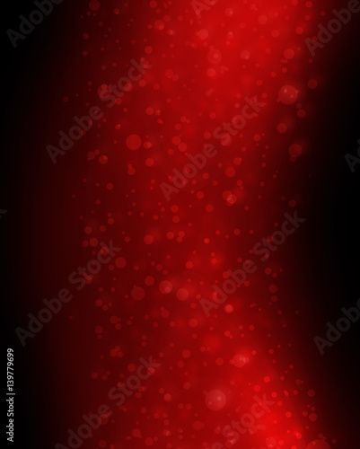 elegant black and red background with blurred stars or white circle