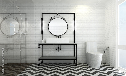 Plakat Wnętrza nowoczesnej łazienki