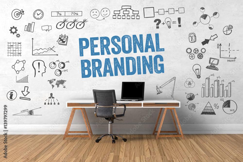 Fototapeta personal branding / Office / Wall / Symbols