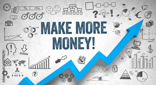Fotografía  Make more Money / Wall / Symbols / Arrow