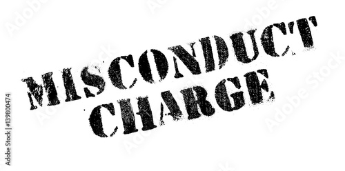 Misconduct Charge rubber stamp Wallpaper Mural