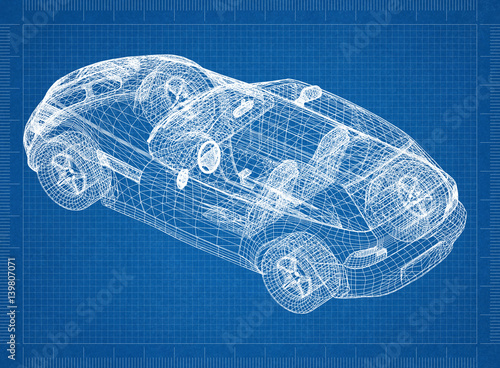 Concept car blueprint 3d perspective buy this stock illustration concept car blueprint 3d perspective malvernweather Images