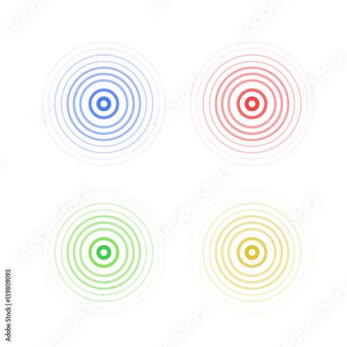 Obraz na plátně  abstract line ripple emblem