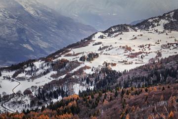 Naklejka Passo Bordala visto da Monte Stivo, Trentino