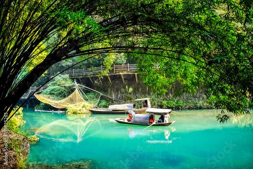 Photo  Geisha girl, Chinese fishing boat.