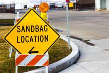 Sandbag Location Sign At Local...