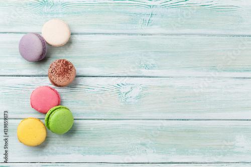Poster Macarons Colorful macaroons