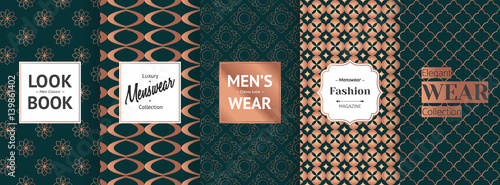The labels contain the following text  Look Book Men Classic, Luxury