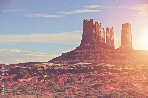Photo sur Toile Desert de sable Sunny Arizona Landscape