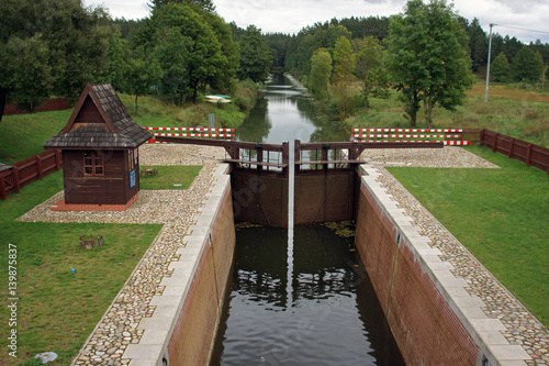 Keuken foto achterwand Kanaal Lock at Augustow Canal, Poland