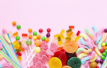 Colorful Candy And Fruit Jelly...