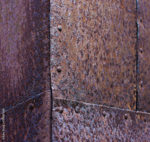 Fotografie, Obraz  Rusty Metal corner