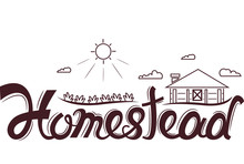Homestead Logo Design Lettering