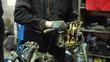 Professional car mechanic fix engine