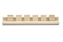 Six Blank Scrabble Tiles On A ...