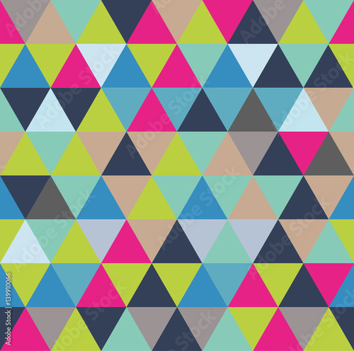 Keuken foto achterwand ZigZag Vector background with triangles