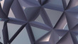 Glossy background from extruded triangles. Metal surface
