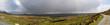 Irish Lanscape in Connemara with Very Big Rainy Clouds