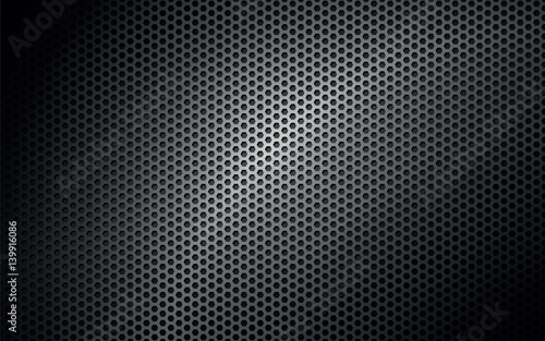 Poster Metal black metal texture background