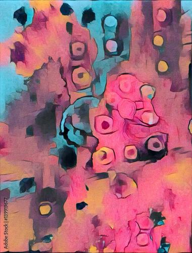 abstrakcyjny-obraz-w-rozowych-i-niebieskich-barwach-malowany-akwarela