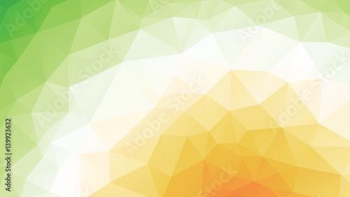 geometric green orange spring texture background - 139923632
