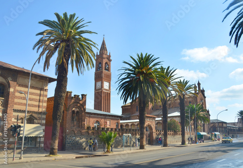 Fotografie, Obraz The Church of Our Lady of the Rosary in Asmara, Eritrea