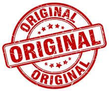 Original Red Grunge Round Vintage Rubber Stamp
