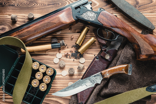 Foto op Aluminium Jacht Set of hunting equipment