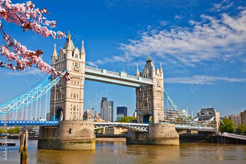 Tower bridge at spring, London Canvas