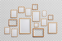 Realistic Photo Frame Vector. ...