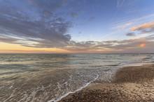 Sunset On Lake Erie Near Sandu...